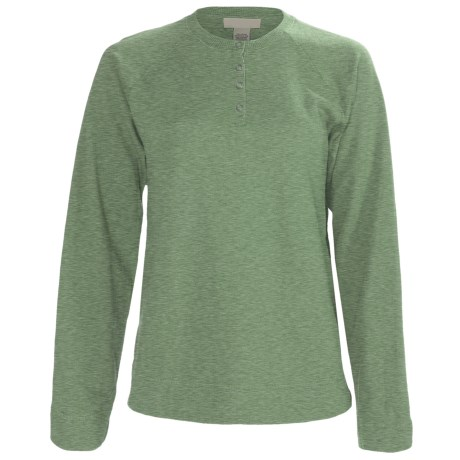 French Terry Henley Shirt - Snap Placket (For Tall Women)
