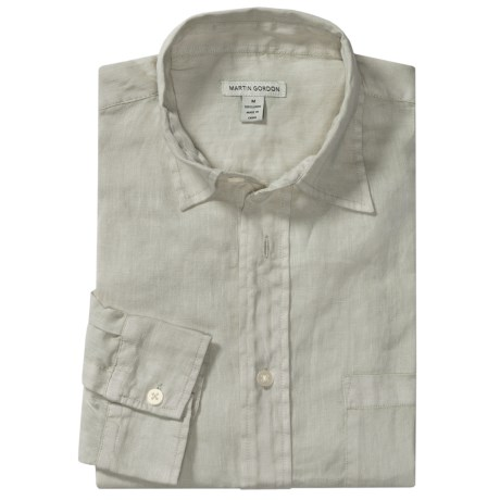 Martin Gordon Linen Shirt - Long Sleeve (For Men)