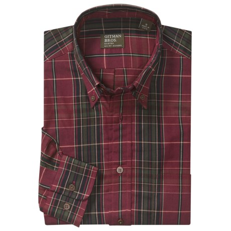 Gitman Brothers Plaids and Stripes Sport Shirt - Long Sleeve (For Men)