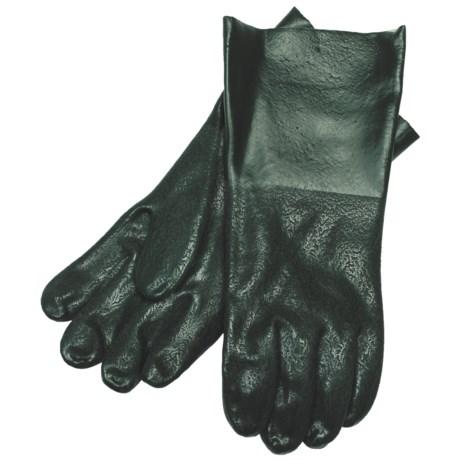 "Hercules Rough Grip PVC Gloves - 12"", Lined (For Men)"