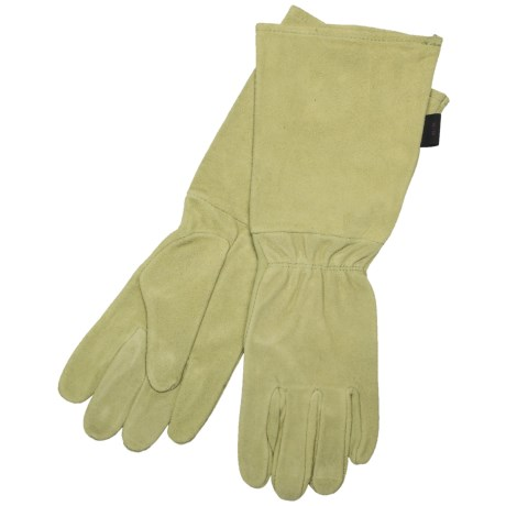 Auclair Rose Worker Gloves - Cowsplit Suede (For Women)
