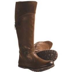 Earth Prance Leather Boots - Faux-Shearling Lining (For Women)