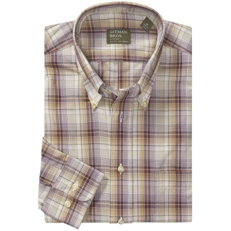Gitman Brothers Plaid Sport Shirt - Long Sleeve (For Men)