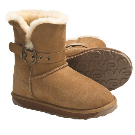 Emu Angels Lo Boots - Sheepskin-Lined, Suede (For Women)