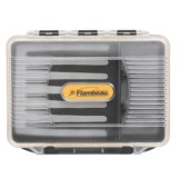 Flambeau Three-Compartment Crystal Fly Box - Waterproof, Small