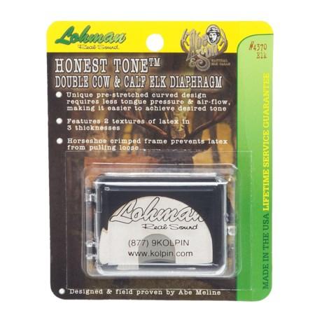 Lohman Honest Tone Double Cow and Calf Elk Diaphragm Call