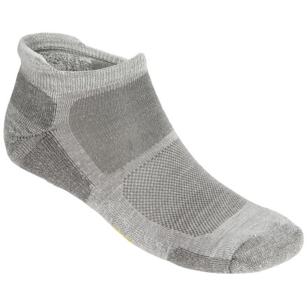 SmartWool Outdoor Sport Micro Socks - Merino Wool, Lightweight, Below the Ankle (For Men and Women) in Silver - 2nds
