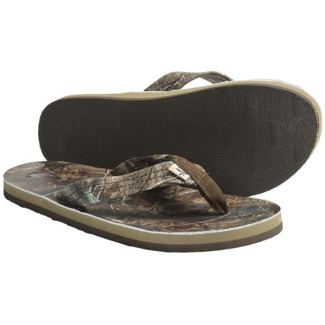 Arks Otudoors Realtree AP® Camo Thong Sandals - Leather (For Men)