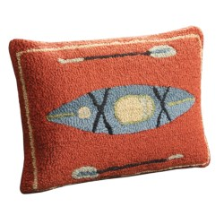 Chandler 4 Corners Hooked Wool Pillow - 14x21""