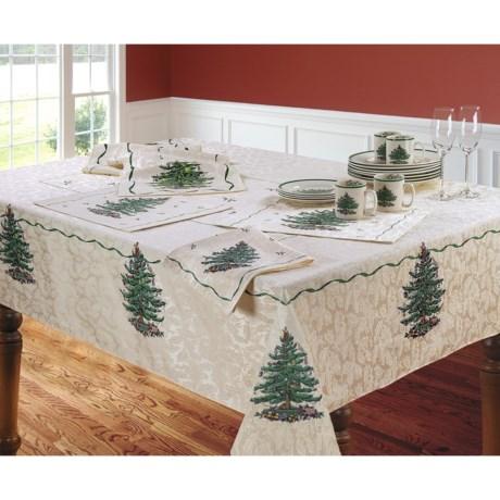 """Spode Christmas Tree Tablecloth - 60x144"""""""