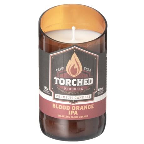 Torched Blood Orange IPA Beer Bottle Candle - 11 oz.