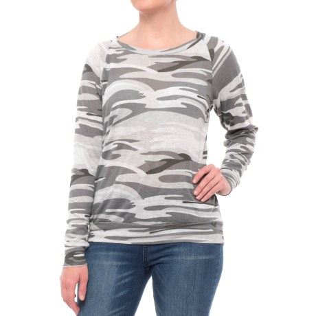 Alternative Apparel Slouchy Pullover Shirt - Scoop Neck, Long Sleeve (For Women)