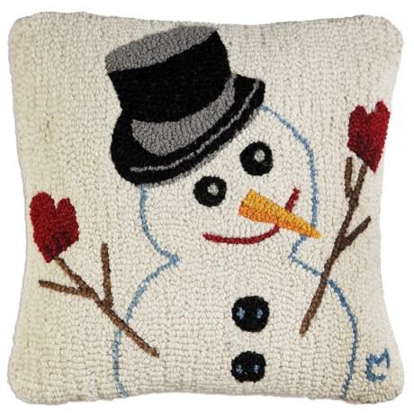 "Chandler 4 Corners Hooked Wool Pillow - 18""x18"""