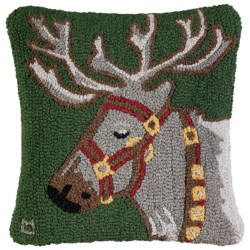 "Chandler 4 Corners Hooked Wool Pillow - 18""x18"""