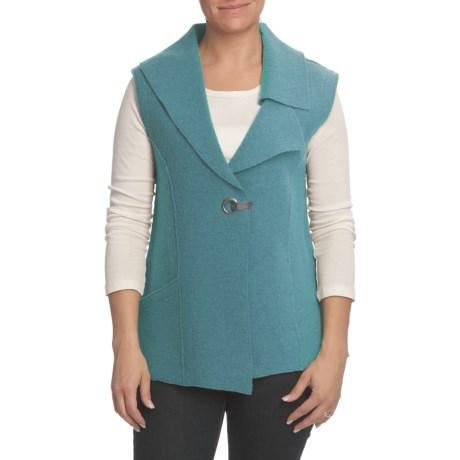 Nomadic Traders Asymmetric Vest - Boiled Wool (For Women)