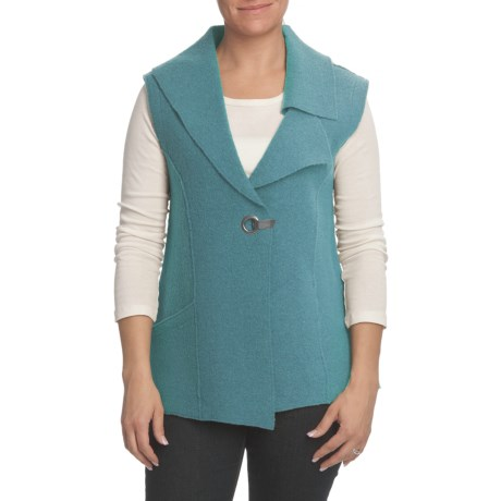 Nomadic Traders Asymmetric Vest - Boiled Wool (For Women)
