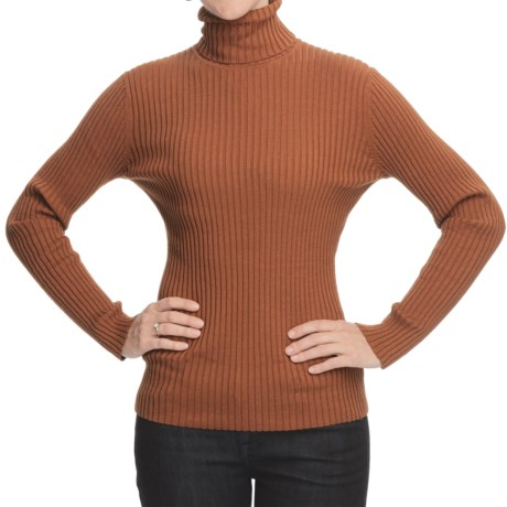Nomadic Traders Wide-Rib Poorboy Turtleneck - Long Sleeve (For Women)