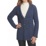 Nomadic Traders Abby Cardigan Sweater - Donegal Cable Knit (For Women)