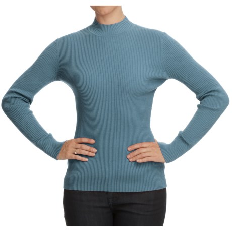 Nomadic Traders Classic Poorboy Sweater - Mock Neck, Long Sleeve (For Women)