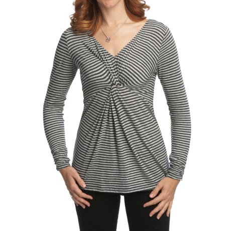 Nomadic Traders Transition Knotted Tunic Shirt - Jersey Knit Micromodal®, Long Sleeve (For Women)