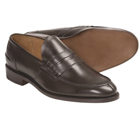 Tricker's Tricker's Poe Penny Loafer Shoes - Algonquian Split Toe, Leather (For Men)