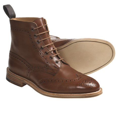 Tricker's Langston Wingtip Boots - Leather (For Men)