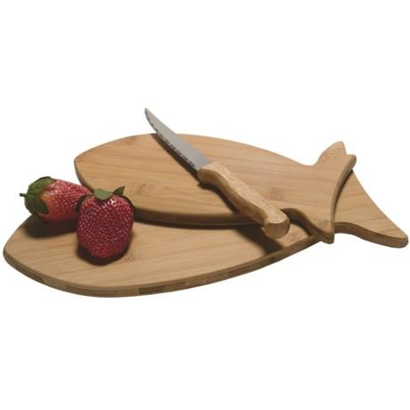 TruBamboo Fish-Shaped Cutting Board - Set of 2