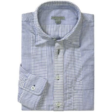 Martin Gordon Popover Stripe Shirt - Cotton, Long Sleeve (For Men)