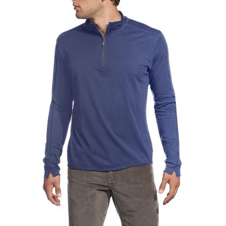 Agave Denim Albion Shirt - Supima® Cotton, Zip Mock Neck, Long Sleeve (For Men)