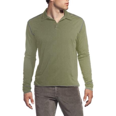 Agave Denim Eel Polo Shirt - Supima® Cotton, Long Sleeve (For Men)