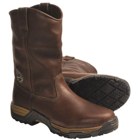 Georgia Boot Diamond Trax Wellington Work Boots - Leather, Soft Toe (For Men)