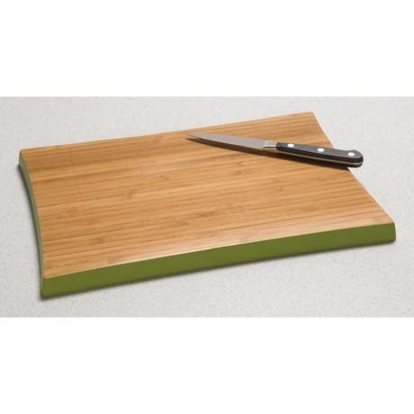 "TruBamboo 180 Collection Bamboo Cutting Board - Colored Rim, 8x12"""