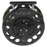 Bauer Fly Reels MacKenzie Xtreme MX4 Fly Fishing Reel - 8/9wt, Black/Splash Finish