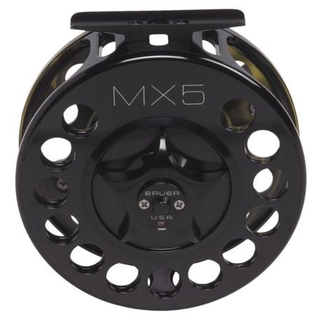 Bauer Fly Reels Machenzie Xtreme MX5 Fly Fishing Reel - 10/11wt, Black/Splash Finish
