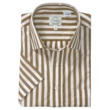 Viyella Awning Stripe Shirt - Short Sleeve (For Men)