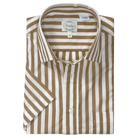Viyella Awning Stripe Shirt - Short Sleeve (For Men)