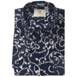 Viyella Batik Abstract Print Shirt - Short Sleeve (For Men)