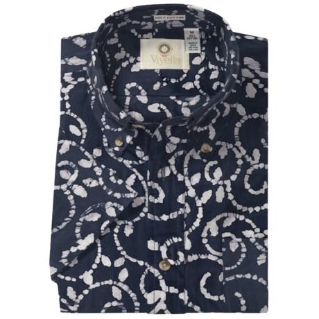Viyella Batik Abstract Print Shirt - Short Sleeve (For Men)