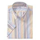 Viyella Vintage Distressed Stripe Shirt - Short Sleeve (For Men)