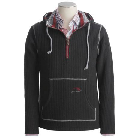 Ivanhoe Ragner Boiled Wool Sweater - Hooded, Zip Neck (For Men)