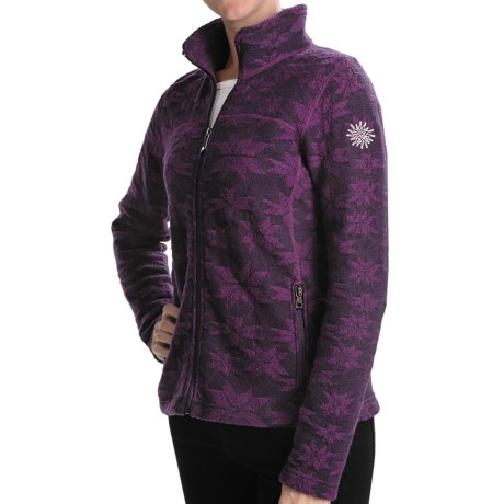 Ivanhoe of Sweden Ivanhoe Snowflake Jacquard Jacket - Boiled Wool (For Women)