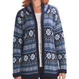 San York Alpaca Geotone Cardigan Sweater (For Women)