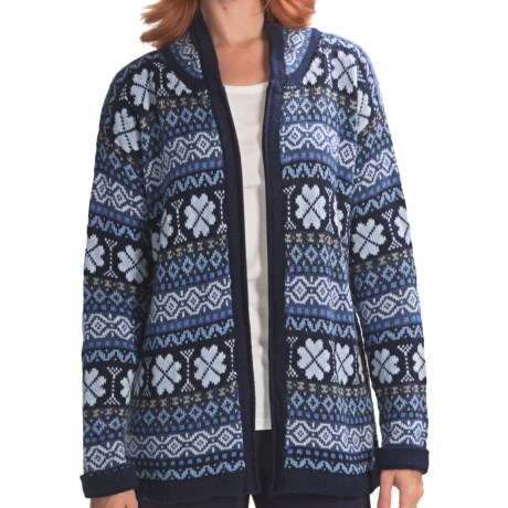 San York Alpaca Geotone Cardigan Sweater (For Women)