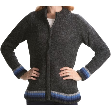 San York Alpaca Cardigan Sweater (For Women)