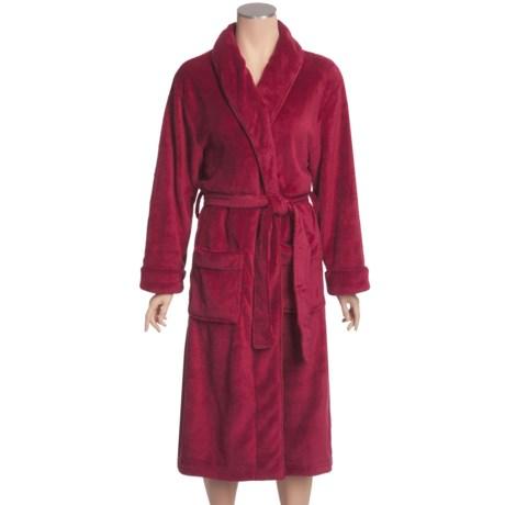 Paddi Murphy Softies Wrap Robe - Ultra-Plush Velour, Belted (For Plus Size Women)
