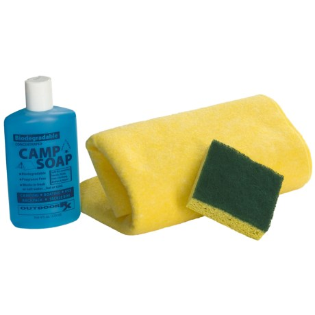 Outdoor RX Camper's Kit with Towel, Soap, and Sponge