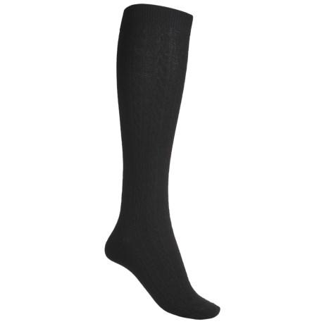 Goodhew San Fran Cable Knee-High Socks - Merino Wool (For Women)
