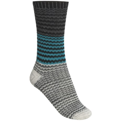 Goodhew Wavy Jacquard Socks - Merino Wool (For Women)