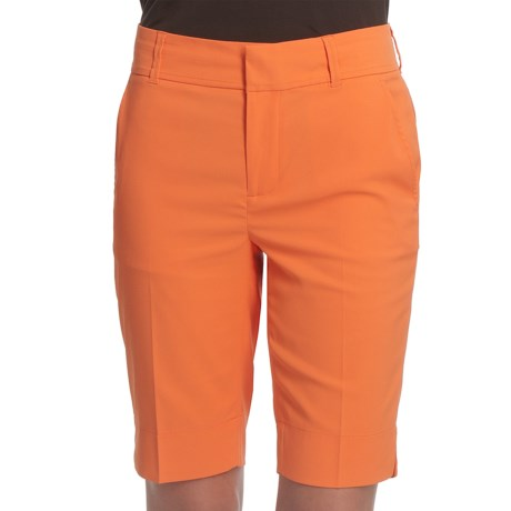 Fairway & Greene Twill Bermuda Shorts - Microfiber (For Women)