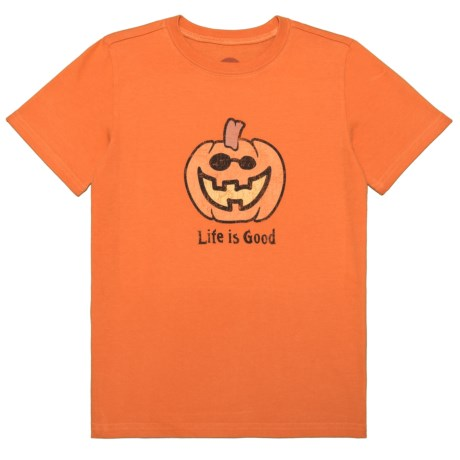 Life is good® Jack O'Lantern Crusher T-Shirt - Short Sleeve (For Little and Big Boys)